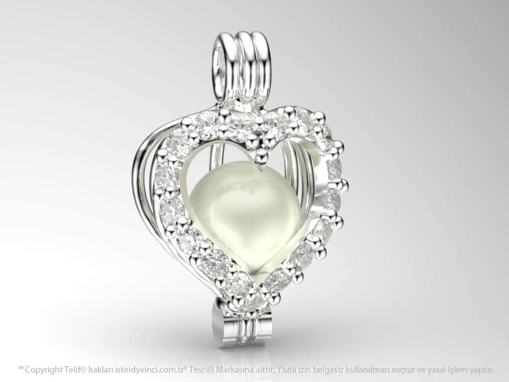 Akoya Heart of Ocean Pendant