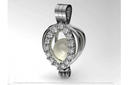 My Peerless Pearl Pendant with White Swarovski
