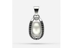 The Endless Passion Pendant with Black Swarovski