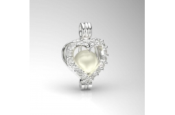 The Heart of the Ocean Freshwater Pendant
